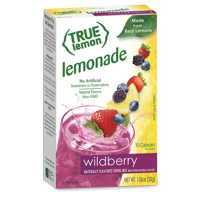 (30 Packets) True Lemon Wildberry Lemonade Stevia Sweetened, On-The-Go, Caffeine Free Powdered Drink Mix