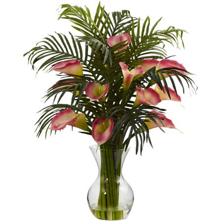 Nearly Natural Calla Lily - Nearly Natural Calla Lily and Palm Combo, Pink