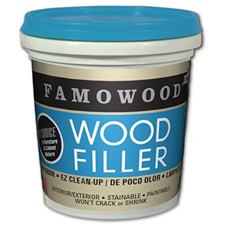 40042126 Latex Wood Filler - 1/4 Pint, Natural, Dries in 15 minutes By