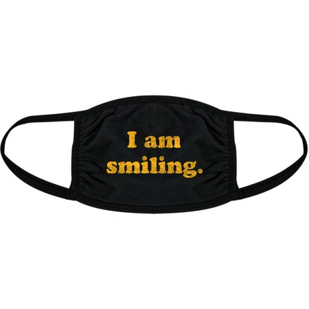 I Am Smiling Face Mask Funny Happy Face Novelty Graphic Nose And Mouth Covering