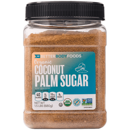 BetterBody Foods Organic Coconut Palm Sugar, 1.5 Lbs