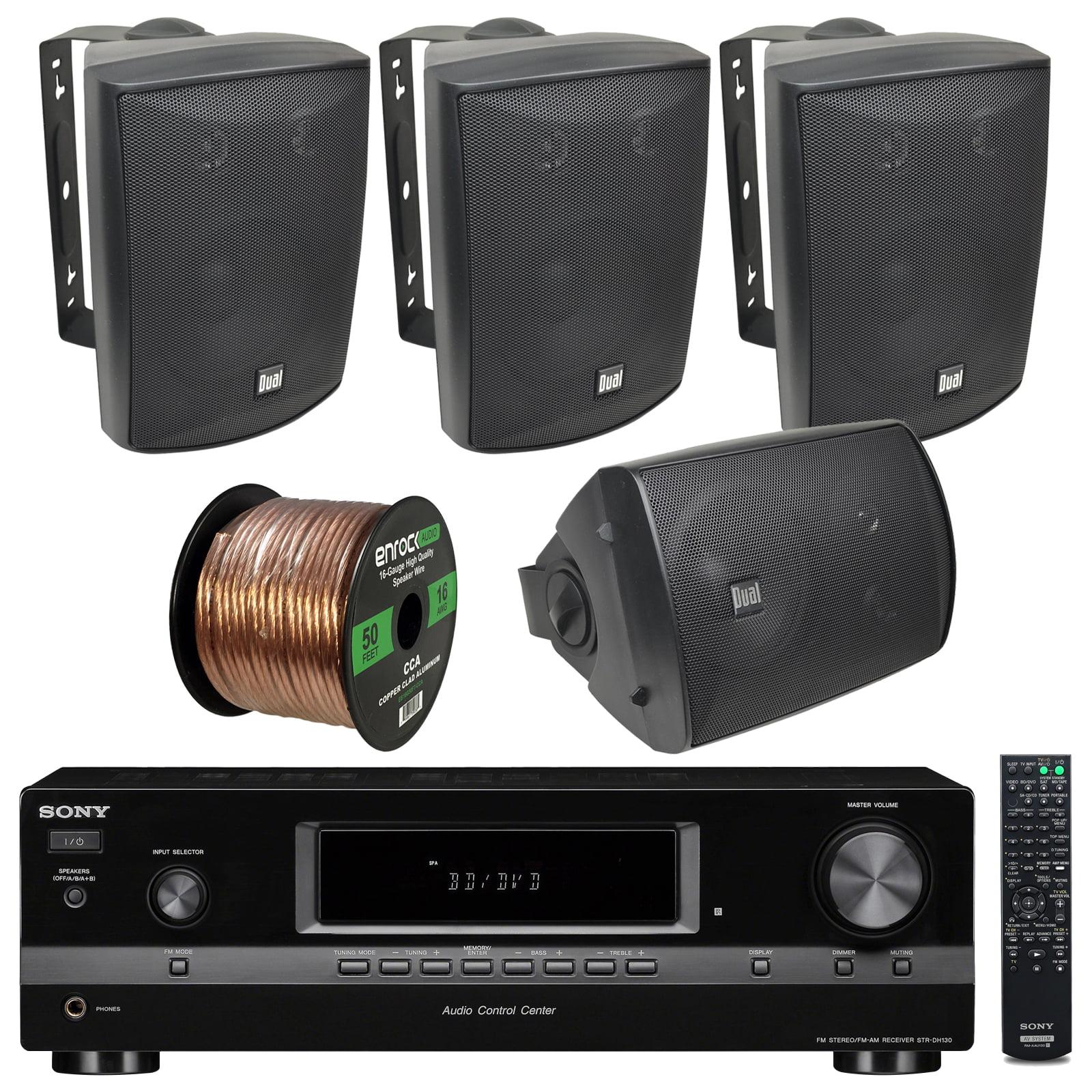 Sony STRDH130 2-Channel - 130-Watt - AM/FM Radio - RCA - ...