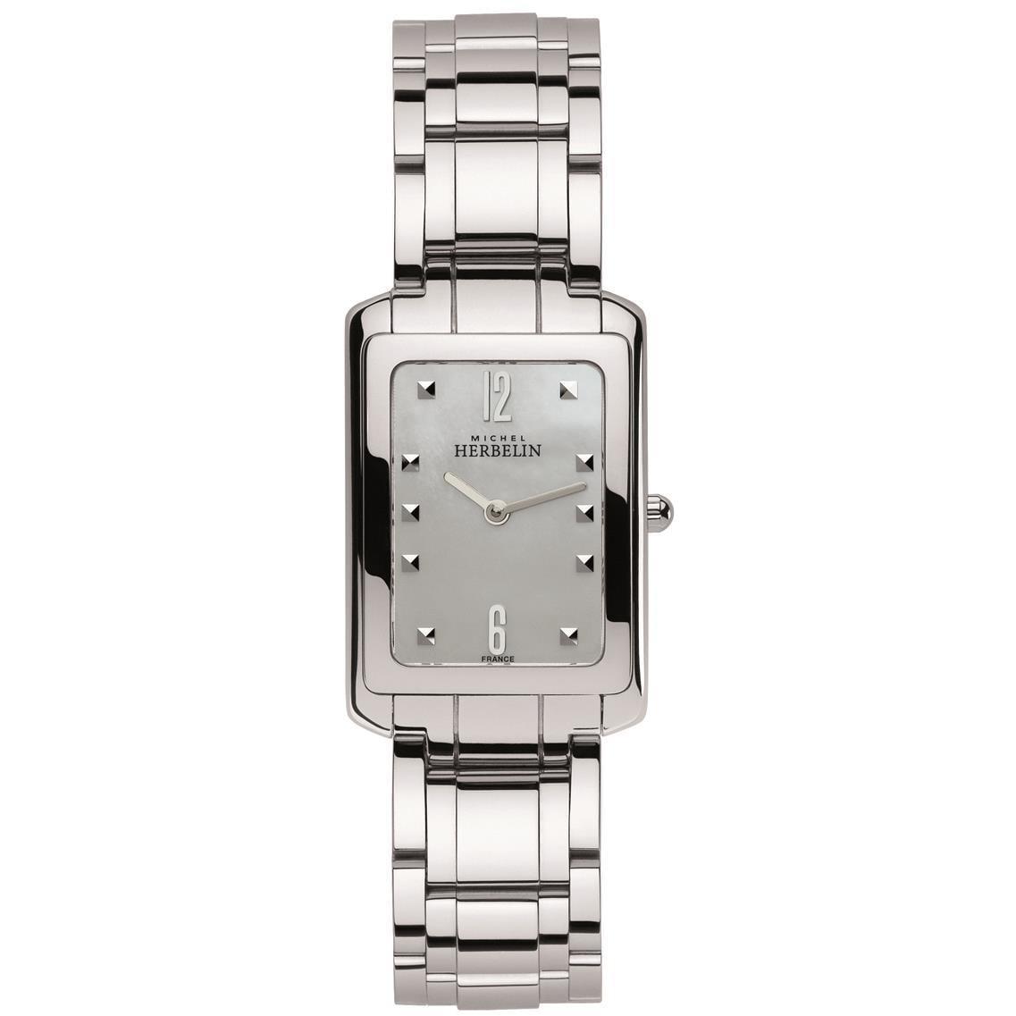Michel Herbelin Women's Steel Bracelet & Case Sapphire Cr...