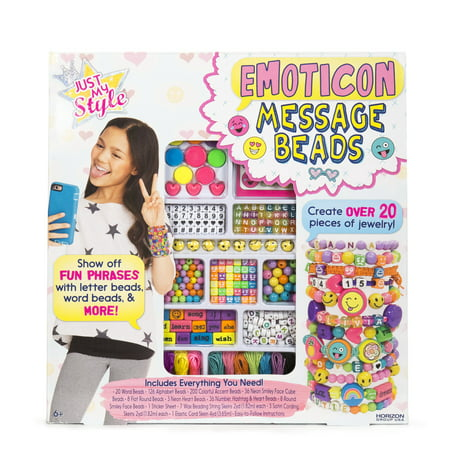 Horizon Group Just My Style Emoticon Message Beads, 1 Each