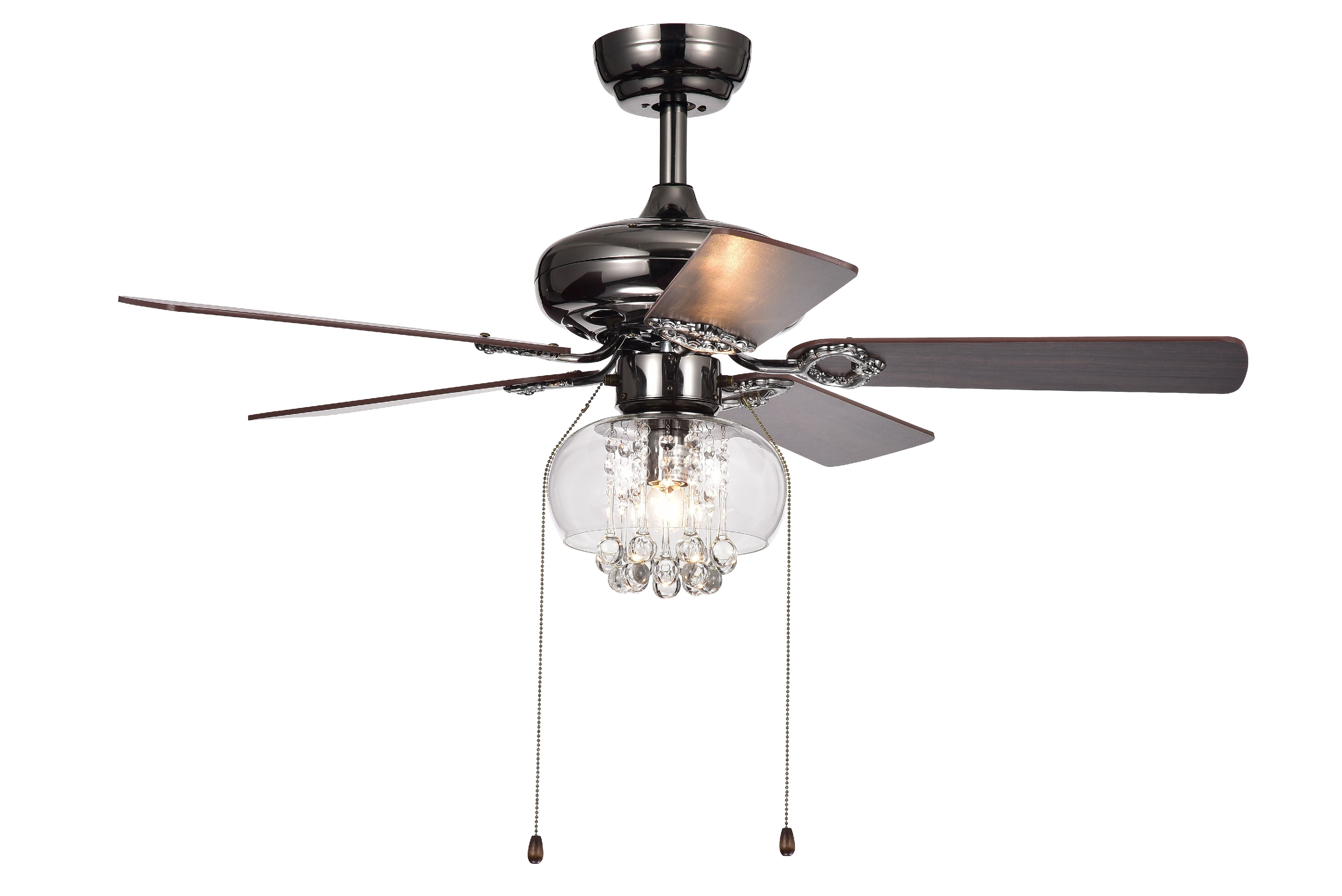 42 black ceiling fan outdoor ceiling aequor 1light glass and crystal 5blade 42inch pear black ceiling