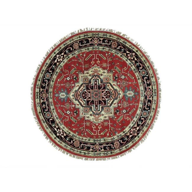 Rugs Sh28918 6 X 6 Ft Hand Knotted Round 100 Wool Serapi