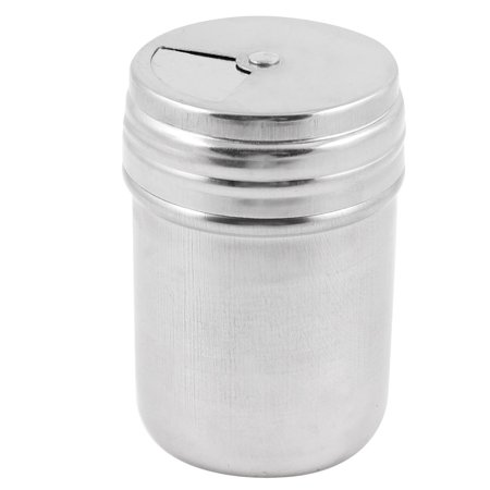 Unique Bargains Silver Tone 55mm x 81mm Stainless Steel Spices Case Salt Pepper Shaker