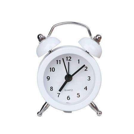 Bulls Desk Clock - Mini Round Alarm Clock Desktop Table Bedside Clocks Travel Clock Decor