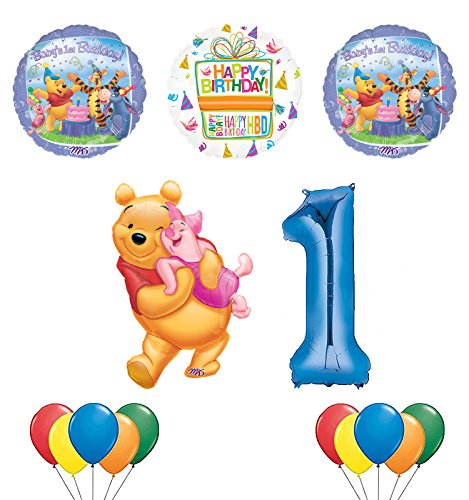 Winnie the Pooh Piglet and Friends 1st Birthday Party Supplies and