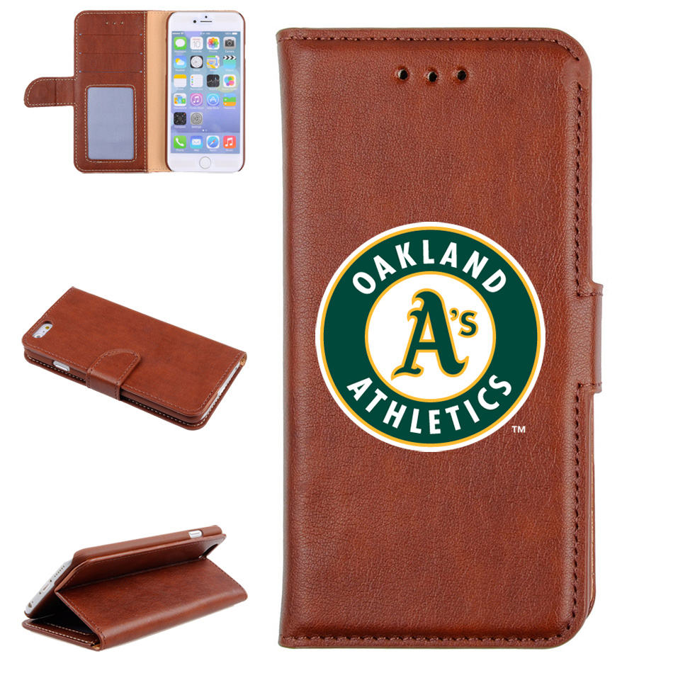 Oakland Athletics Baseball Glove Leather Cellular Phone Holder - Brown - No Size