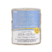 Darice Craft Designer Jute Cord, 2-Ply, 400-Foot Roll