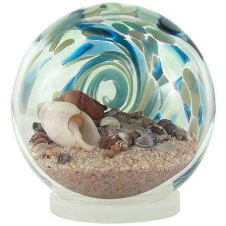 Blue Sea Globe - Hand-Blown Glass  - 6