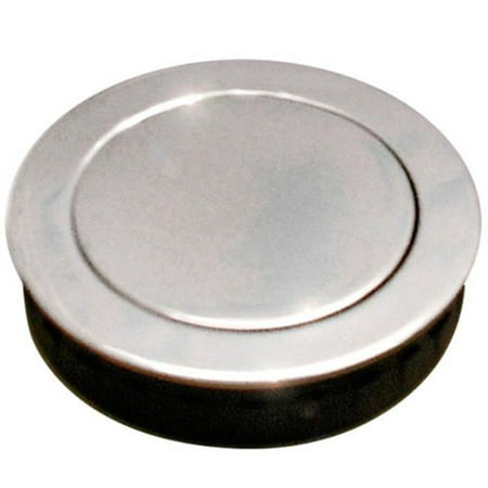 Jako 52 mm Round Flush Pull with Spring Loaded Cover, Polished US32 - 629 Stainless Steel