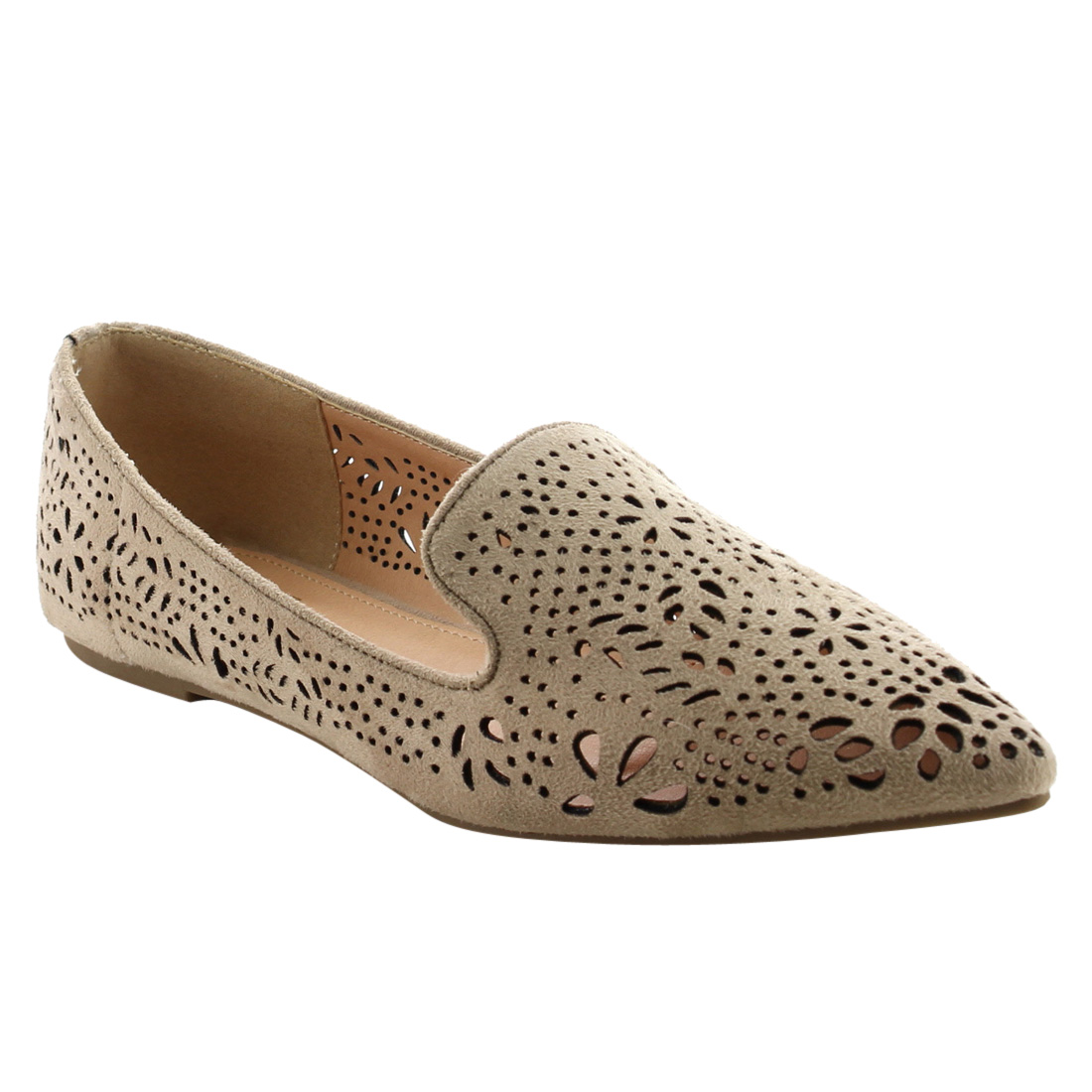 0a5a9fb52f BETANI - BETANI FJ80 Women s Solid Cut Out Slip On Ballerina Ballet Flats -  Walmart.com