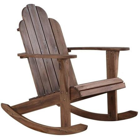 Brilliant Ghp 30 39X30 34X35 Brown Wood Acacia Metal High Back Adirondack Rocking Chair Download Free Architecture Designs Xerocsunscenecom