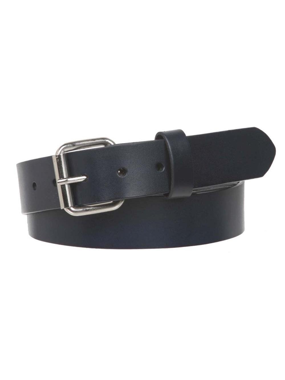 34 mm Beltiscool Snap On Standard Plain Full Grain Leather Belt