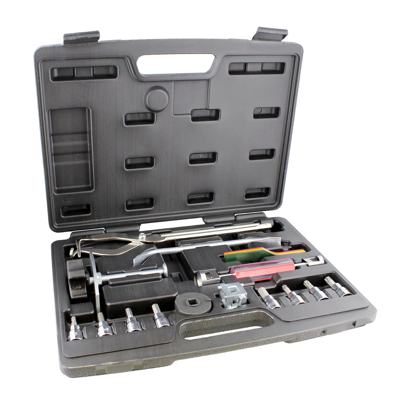 ABN | Brake Tools 15-Piece Brake Kit with Brake Caliper Tool Brake Drum Puller