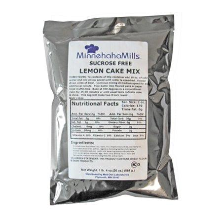 (12 pack) Minnehaha Mills® Lemon Cake Mix, Sucrose Free 20