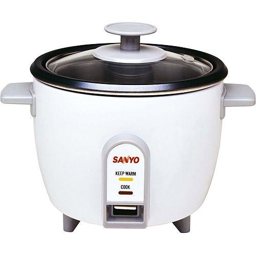 Great Sanyo Rice Cooker, Vegetable Steamer, 3 Cup, White