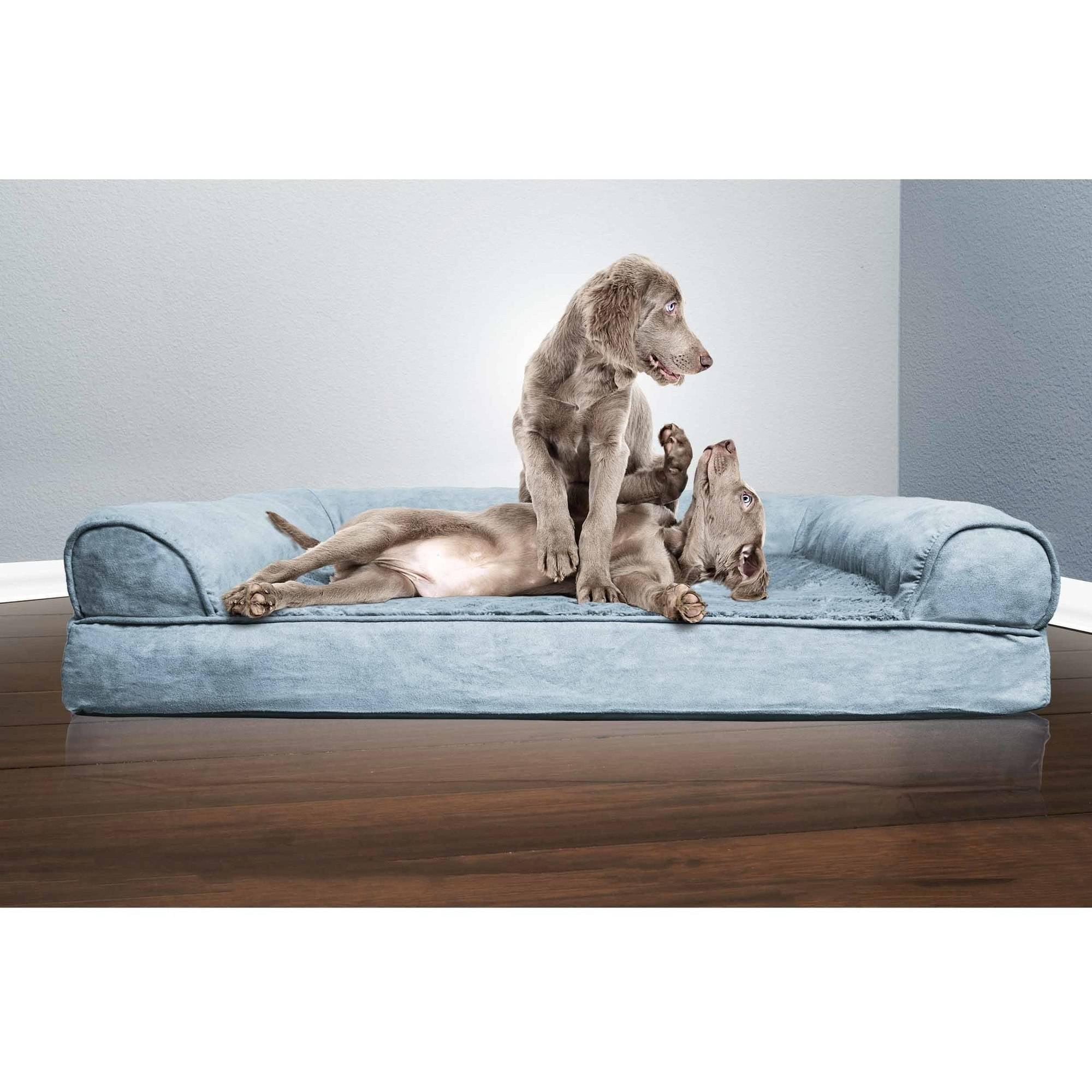 furhaven plush orthopedic sofa dog bed pet bed ebay. Black Bedroom Furniture Sets. Home Design Ideas