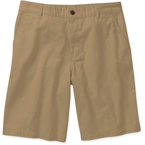 Faded Glory Men's Solid Twill Flat Front Shorts