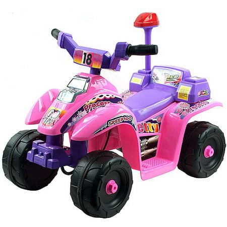 Lil' Rider Precess 4-Wheeler Mini ATV 6-Volt Battery-Powered Ride-On, Pink/Purple
