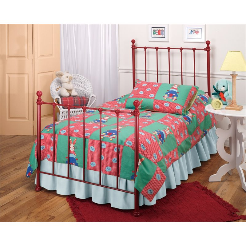 Hillsdale Molly Twin Poster Bed in Red by Hillsdale