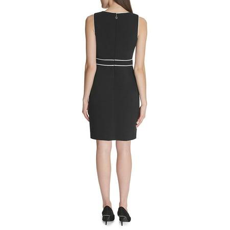 Best Chain Contrast Sheath Dress deal