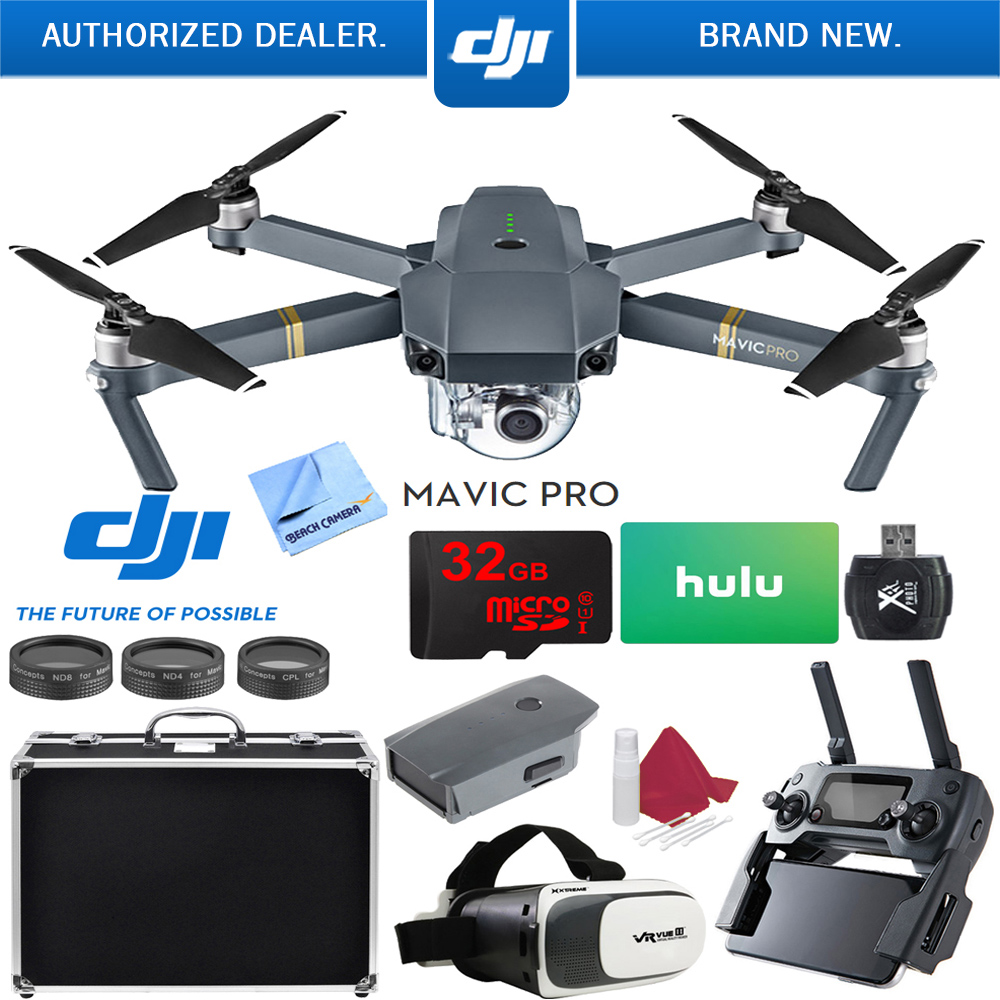 DJI Mavic Pro Platinum Quadcopter Drone with 4K Camera and Wi-Fi Super Pack by DJI