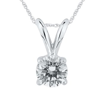 AGS Certified 1/2 Carat Round Diamond Solitaire Pendant