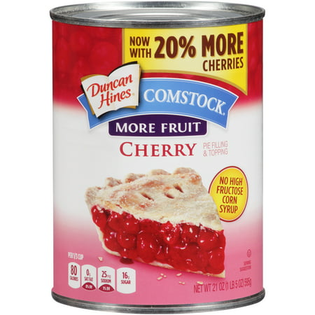 (2 Pack) Comstock More Fruit Cherry Pie Filling Or Topping, 21 - Apple Pie Filling Cake