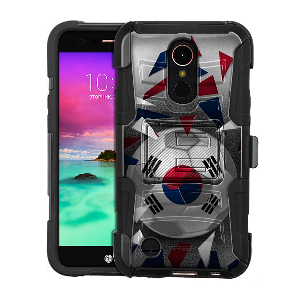 LG K20 Plus Armor Hybrid Case Soccer Ball Korea Flag by Trek Media Group