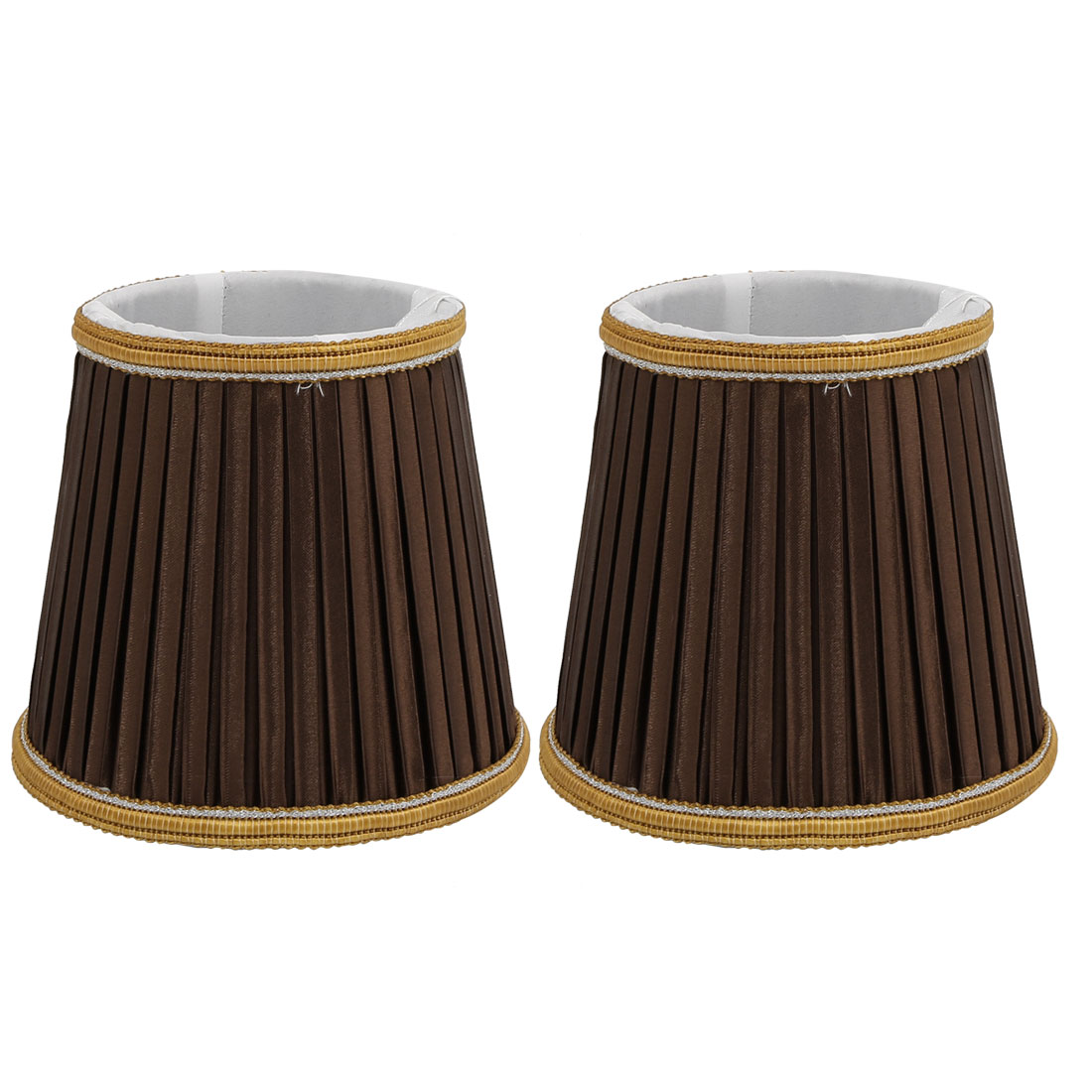 2pcs DropLight Wall Shade Chandelier Clip-On Lampshade Chocolate Fabric-Covered by