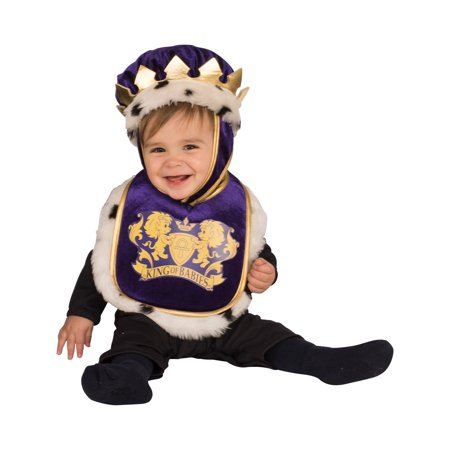 Baby King Bib & Crown Costume - Costume King Crown