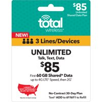Total Wireless $85 Unlimited Family Plan (Email Delivery)