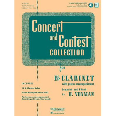Concert and Contest Collection for B Flat (B Flat Clarinet Finger Chart All Notes)