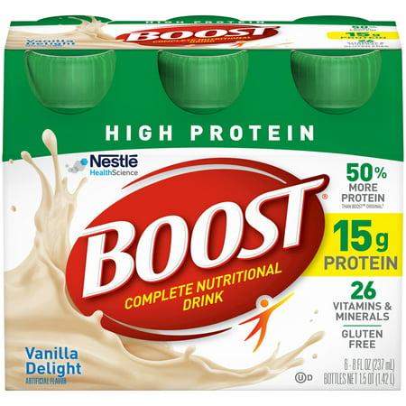 Boost High Protein plete Nutritional Drink Vanilla Delight 8 Fl