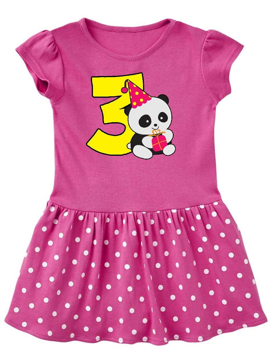 Cute Panda 3rd Birthday Toddler Dress