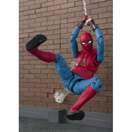 S.H. Figuarts Spiderman Homecoming (Home Made Suit) with Tamashii Option Act Wall Action Figure