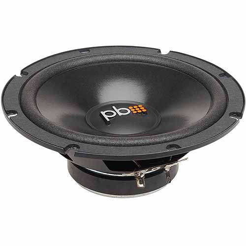 "Powerbass S-60C 6.5"" Component Speakers, Set of 2, Black"