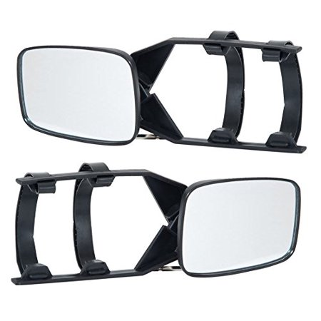 - HOMCOM 2pc Universal Clip-on Trailer Towing Side Mirror Extensions
