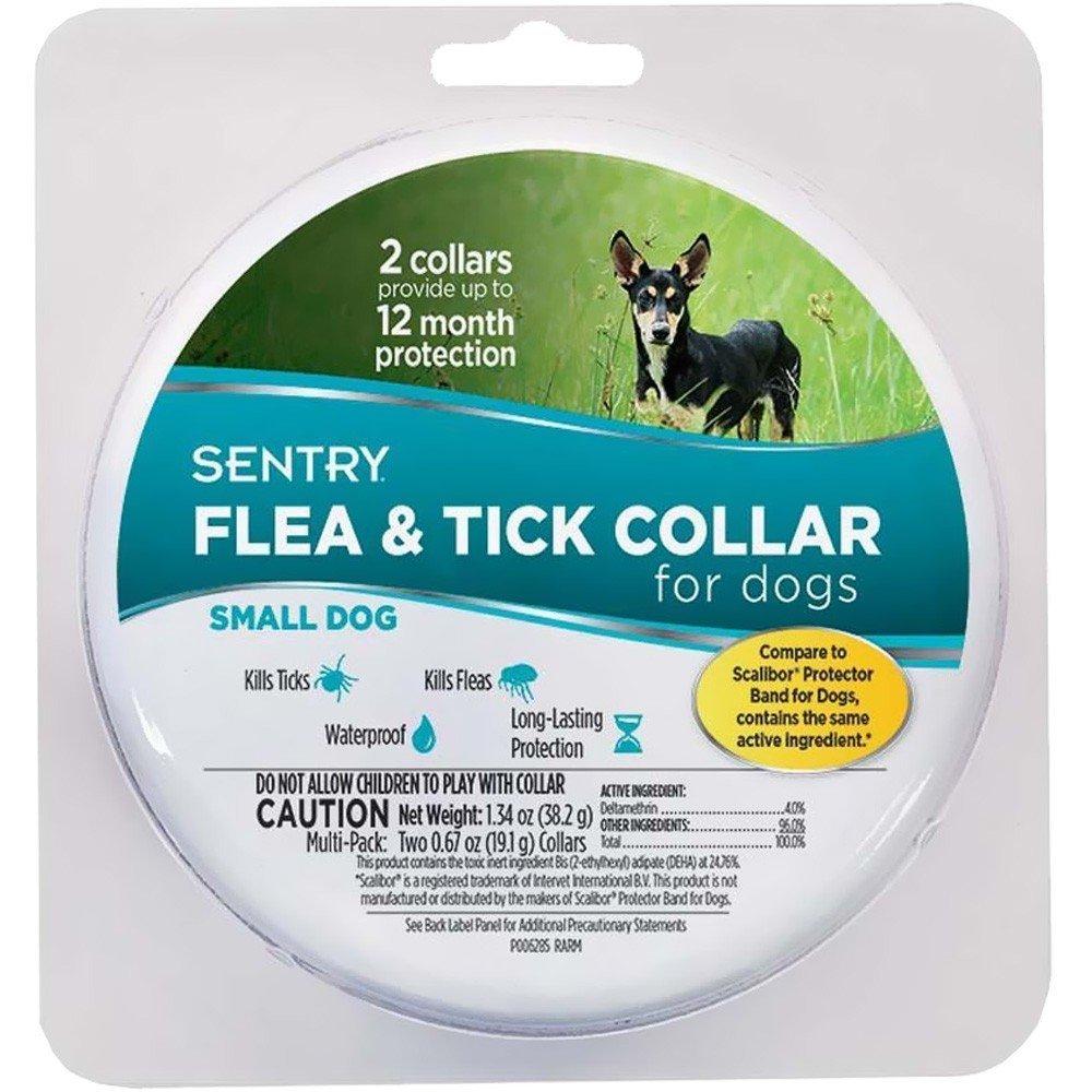 Sentry Long Lasting Flea and Tick Dog Collar Waterproof Long-Lasting Small 2 count