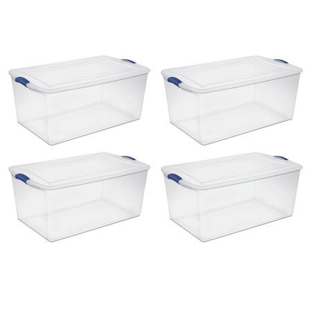 Sterilite 105 Qt Latch Box, Stadium Blue (Available in a Case of 4 or Single Unit) - Cheap Store