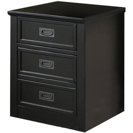 Acme pandora file cabinet black for Acme kitchen cabinets