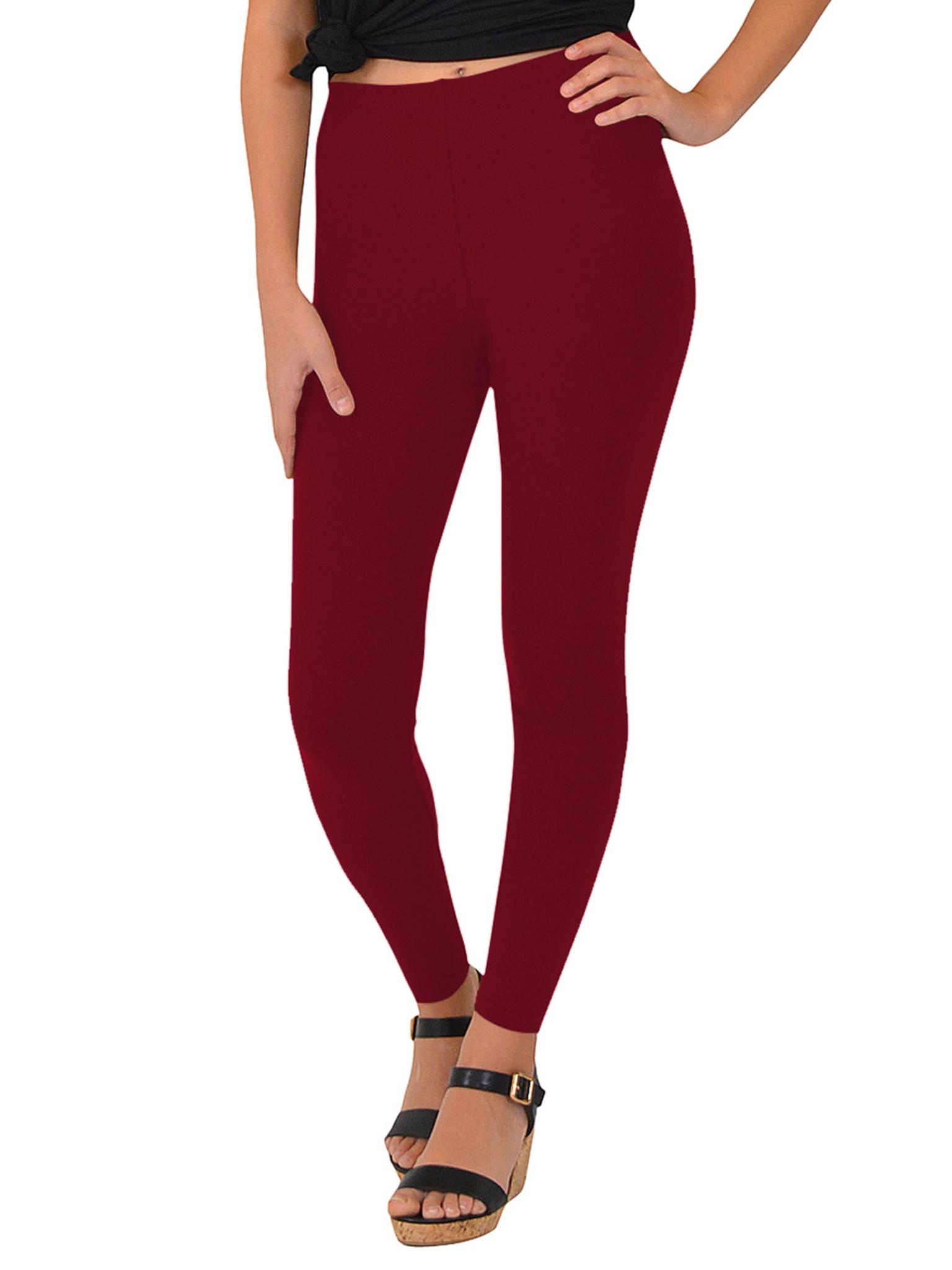 Women's Cotton Leggings - X-Large Adult (12-14) / Beige