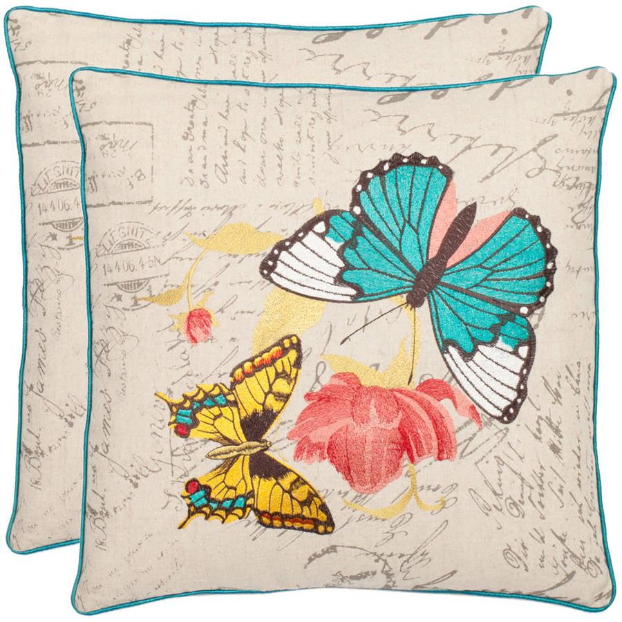 Safavieh Ilavia Butterfly Pillow, Set of 2