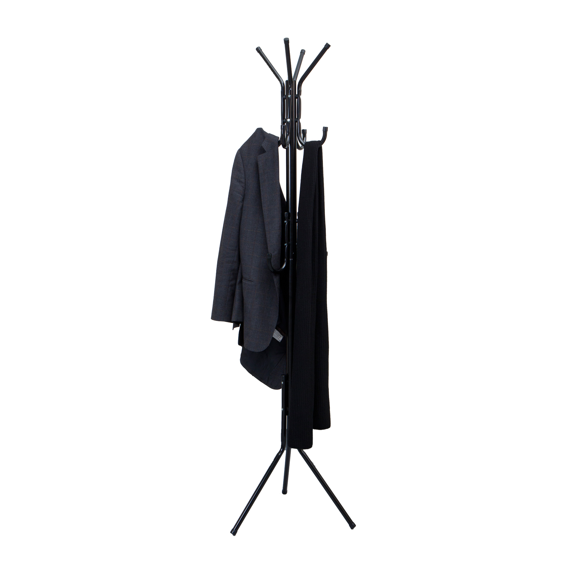 mind reader standing metal coat rack hat hanger 11 hook for jacket Umbrella Coat Rack