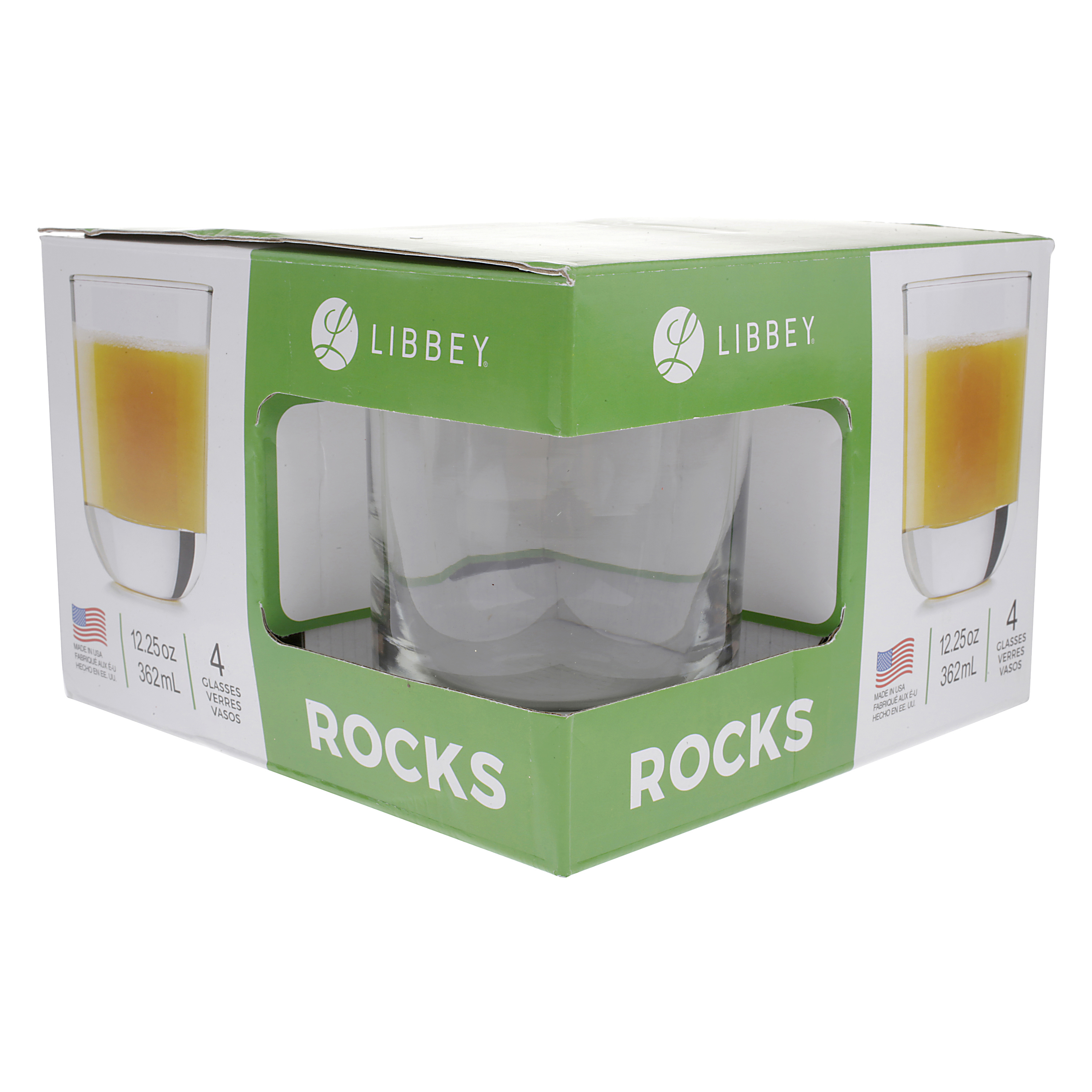 Libbey Rocks Glasses, 4 pack