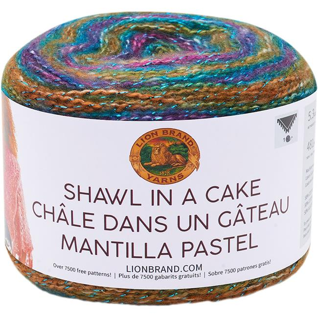 3 Pack Lion Brand Shawl in a Cake Yarn-Community Coral