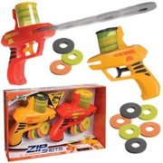 Zip Shot Twin Pack Foam Shooters with 24 Discs, Includes 2 Shooters and 24 Soft Foam Discs By GIFTS AND GADGETS ONLINE